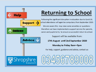 Shropshire Council offer support